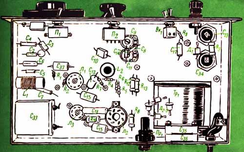 Для налаживания необходимо иметь только два прибора: авометр и ГИР (гетеродинный индикатор резонанса) или волномер.